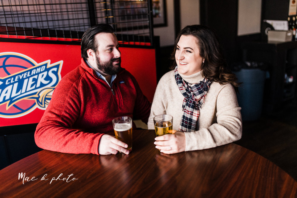 casey and matthew's personal winter cleveland engagement session at the clevelander and east fourth street and edgewater park in cleveland ohio photographed by youngstown wedding photographer mae b photo-7.jpg