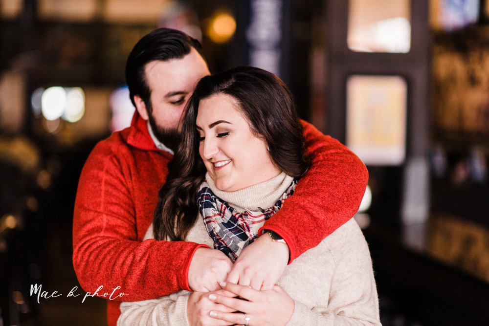 casey and matthew's personal winter cleveland engagement session at the clevelander and east fourth street and edgewater park in cleveland ohio photographed by youngstown wedding photographer mae b photo-12.jpg