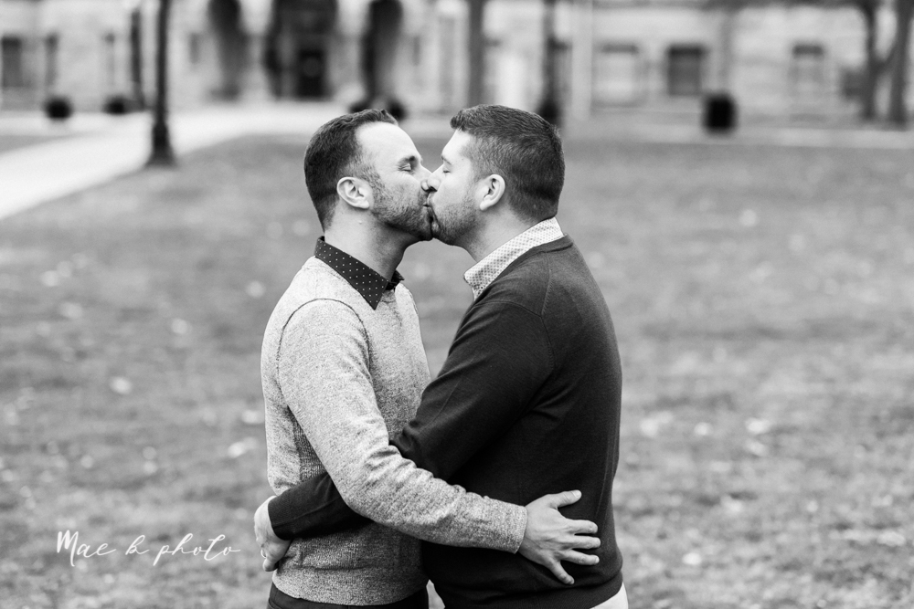 marcus and anthony's same sex winter lifestyle in home engagement session at the chase building in downtown warren ohio and at their home in niles ohio photographed by youngstown wedding photographer mae b photo-29.jpg