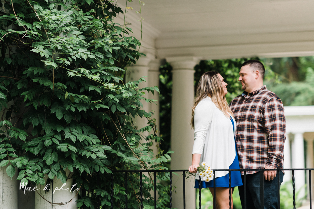 elizabeth and dan's rainy summer engagement session at ford nature center in mill creek park and whistle and keg bar in downtown youngstown ohio photographed by youngstown wedding photographer mae b photo-23.jpg