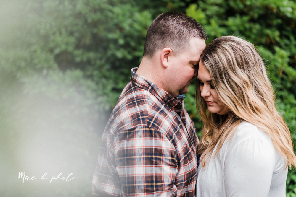 elizabeth and dan's rainy summer engagement session at ford nature center in mill creek park and whistle and keg bar in downtown youngstown ohio photographed by youngstown wedding photographer mae b photo-27.jpg