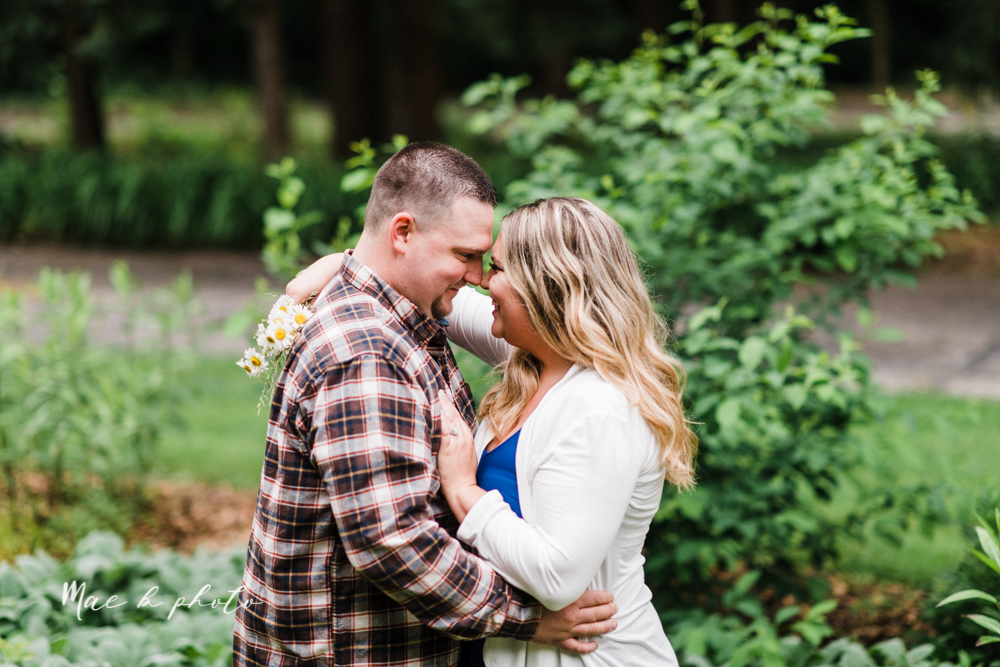 elizabeth and dan's rainy summer engagement session at ford nature center in mill creek park and whistle and keg bar in downtown youngstown ohio photographed by youngstown wedding photographer mae b photo-2.jpg