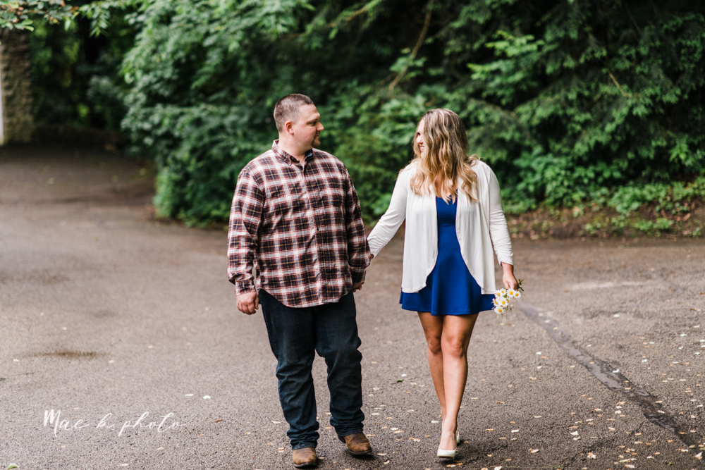 elizabeth and dan's rainy summer engagement session at ford nature center in mill creek park and whistle and keg bar in downtown youngstown ohio photographed by youngstown wedding photographer mae b photo-5.jpg