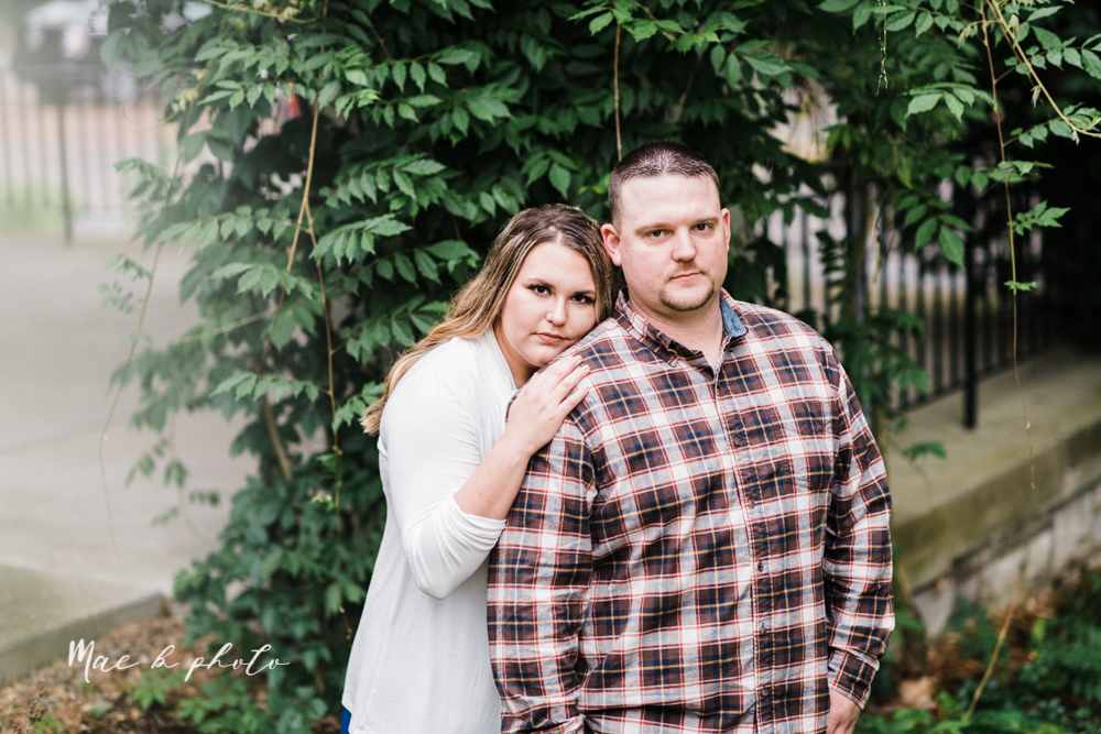 elizabeth and dan's rainy summer engagement session at ford nature center in mill creek park and whistle and keg bar in downtown youngstown ohio photographed by youngstown wedding photographer mae b photo-21.jpg