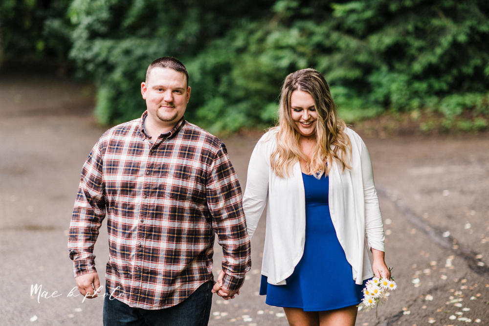 elizabeth and dan's rainy summer engagement session at ford nature center in mill creek park and whistle and keg bar in downtown youngstown ohio photographed by youngstown wedding photographer mae b photo-7.jpg