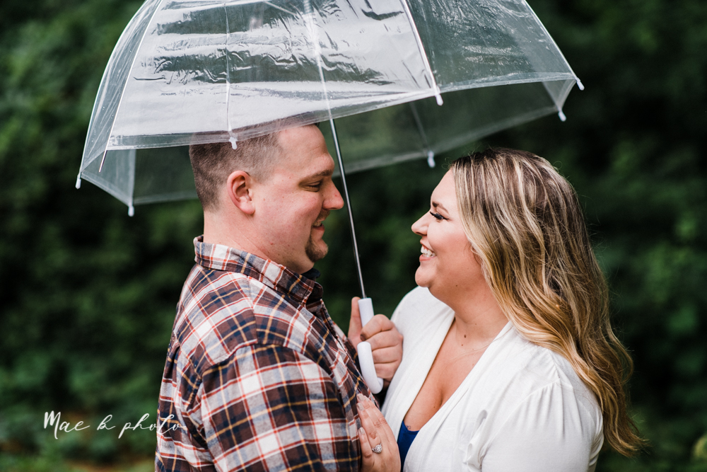 elizabeth and dan's rainy summer engagement session at ford nature center in mill creek park and whistle and keg bar in downtown youngstown ohio photographed by youngstown wedding photographer mae b photo-12.jpg