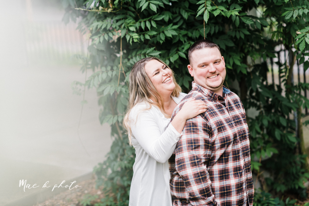 elizabeth and dan's rainy summer engagement session at ford nature center in mill creek park and whistle and keg bar in downtown youngstown ohio photographed by youngstown wedding photographer mae b photo-18.jpg