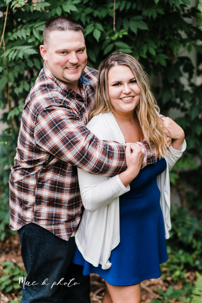 elizabeth and dan's rainy summer engagement session at ford nature center in mill creek park and whistle and keg bar in downtown youngstown ohio photographed by youngstown wedding photographer mae b photo-16.jpg