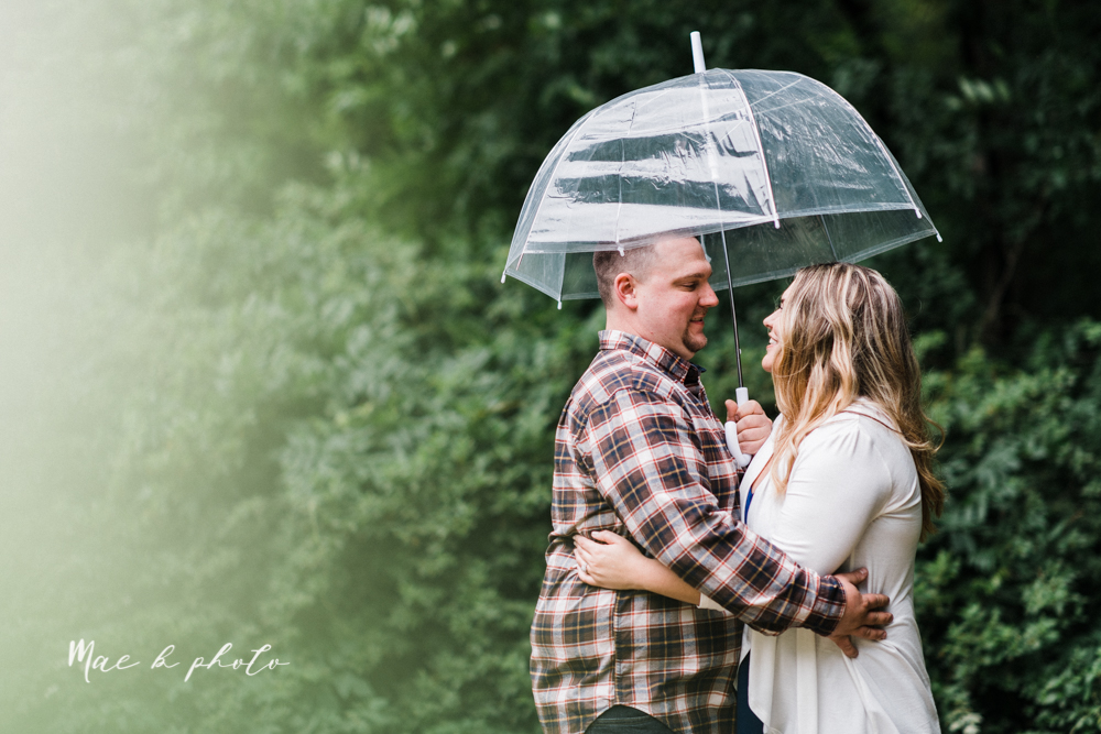 elizabeth and dan's rainy summer engagement session at ford nature center in mill creek park and whistle and keg bar in downtown youngstown ohio photographed by youngstown wedding photographer mae b photo-11.jpg