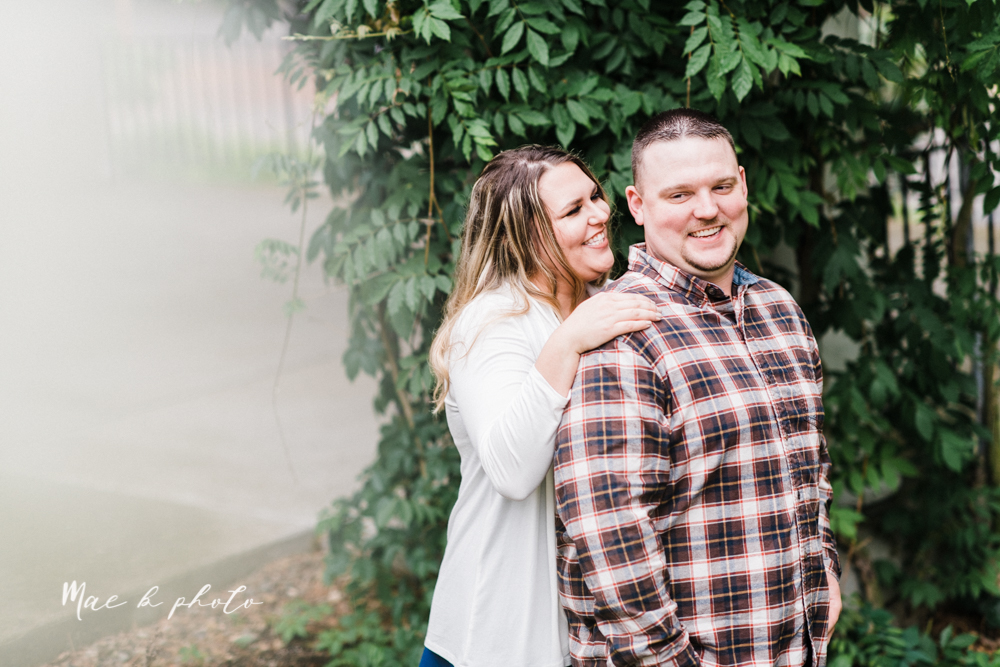 elizabeth and dan's rainy summer engagement session at ford nature center in mill creek park and whistle and keg bar in downtown youngstown ohio photographed by youngstown wedding photographer mae b photo-19.jpg