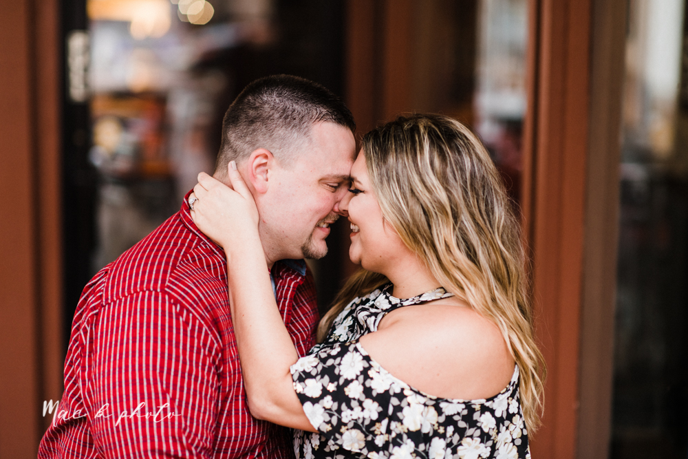 elizabeth and dan's rainy summer engagement session at ford nature center in mill creek park and whistle and keg bar in downtown youngstown ohio photographed by youngstown wedding photographer mae b photo-45.jpg