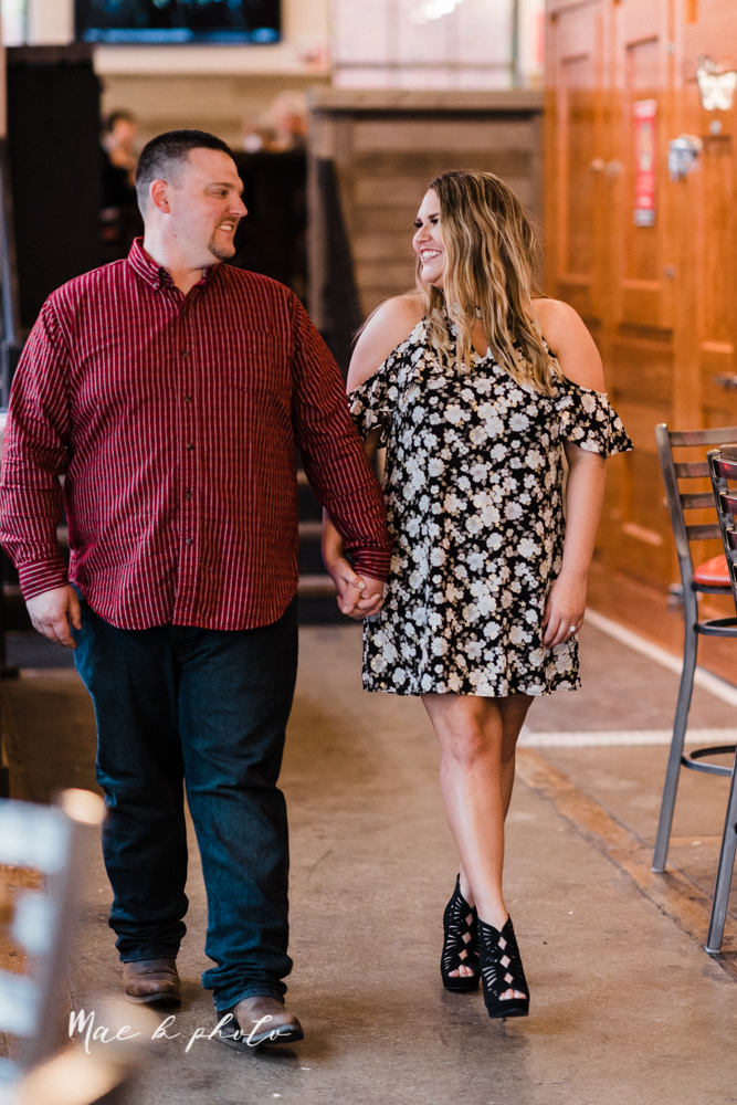 elizabeth and dan's rainy summer engagement session at ford nature center in mill creek park and whistle and keg bar in downtown youngstown ohio photographed by youngstown wedding photographer mae b photo-40.jpg