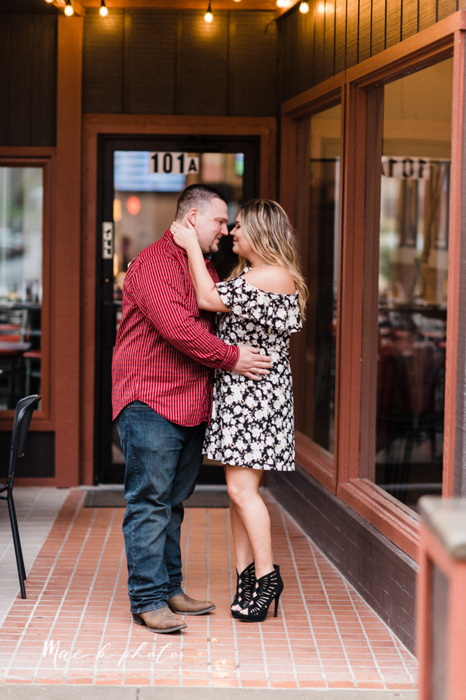 elizabeth and dan's rainy summer engagement session at ford nature center in mill creek park and whistle and keg bar in downtown youngstown ohio photographed by youngstown wedding photographer mae b photo-42.jpg