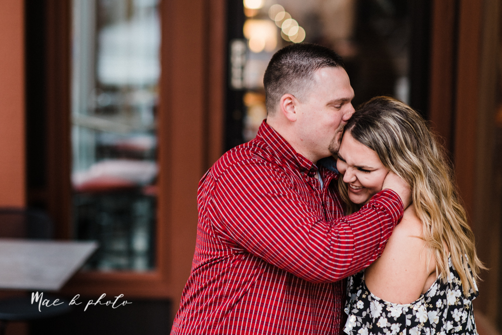 elizabeth and dan's rainy summer engagement session at ford nature center in mill creek park and whistle and keg bar in downtown youngstown ohio photographed by youngstown wedding photographer mae b photo-48.jpg