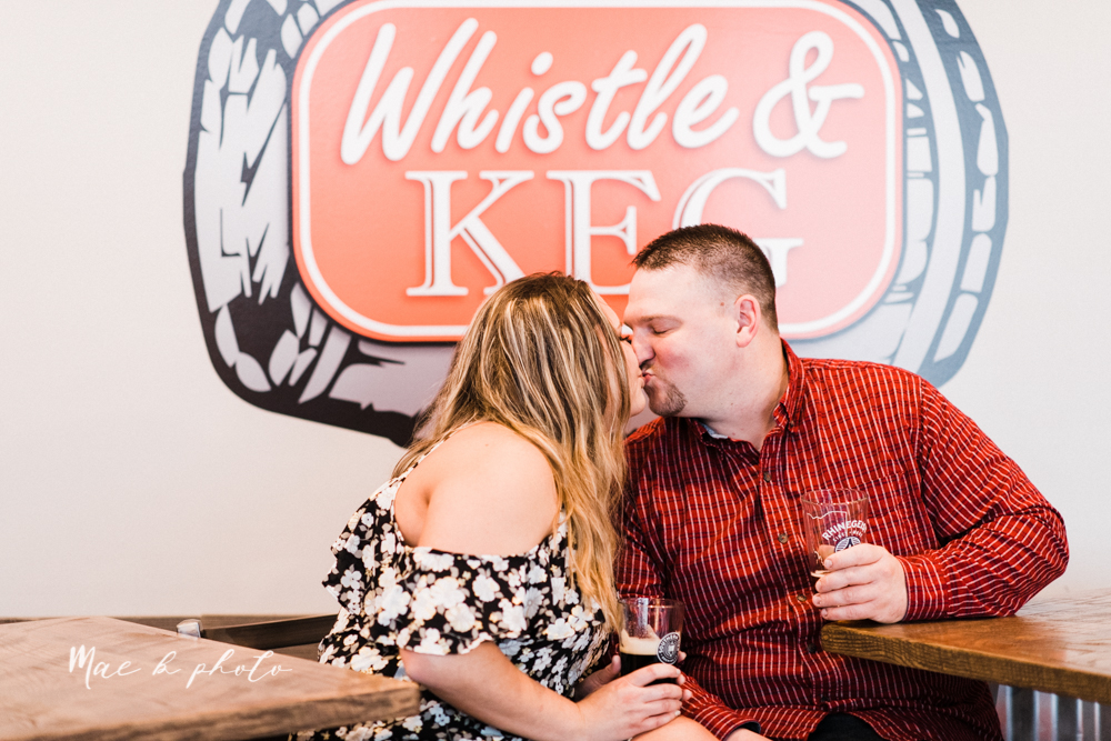 elizabeth and dan's rainy summer engagement session at ford nature center in mill creek park and whistle and keg bar in downtown youngstown ohio photographed by youngstown wedding photographer mae b photo-39.jpg