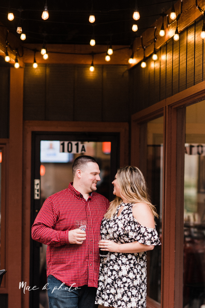 elizabeth and dan's rainy summer engagement session at ford nature center in mill creek park and whistle and keg bar in downtown youngstown ohio photographed by youngstown wedding photographer mae b photo-41.jpg
