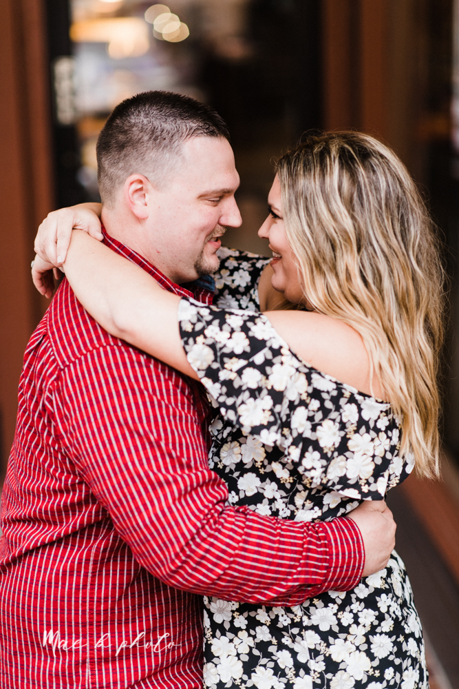 elizabeth and dan's rainy summer engagement session at ford nature center in mill creek park and whistle and keg bar in downtown youngstown ohio photographed by youngstown wedding photographer mae b photo-46.jpg