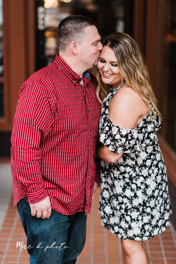 elizabeth and dan's rainy summer engagement session at ford nature center in mill creek park and whistle and keg bar in downtown youngstown ohio photographed by youngstown wedding photographer mae b photo-47.jpg