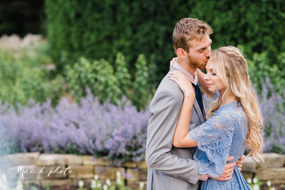 jessica and donny's woodsy adventurous summer engagement session at fellows riverside gardens (the rose gardens) and mill creek park at lantermin's mill in youngstown ohio photographed by youngstown wedding photographer mae b photo -11.jpg