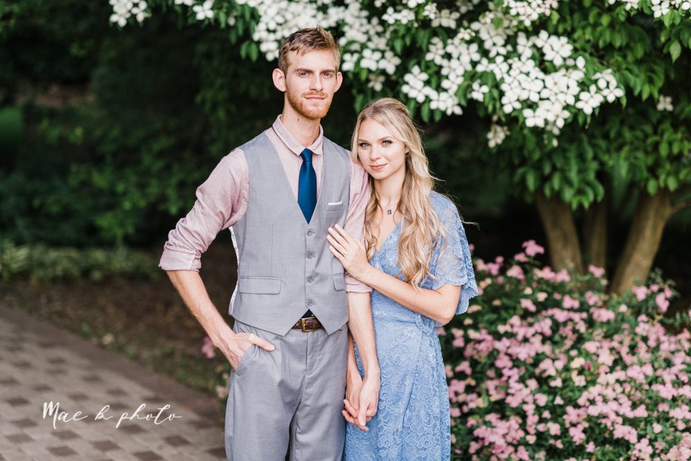 jessica and donny's woodsy adventurous summer engagement session at fellows riverside gardens (the rose gardens) and mill creek park at lantermin's mill in youngstown ohio photographed by youngstown wedding photographer mae b photo -25.jpg