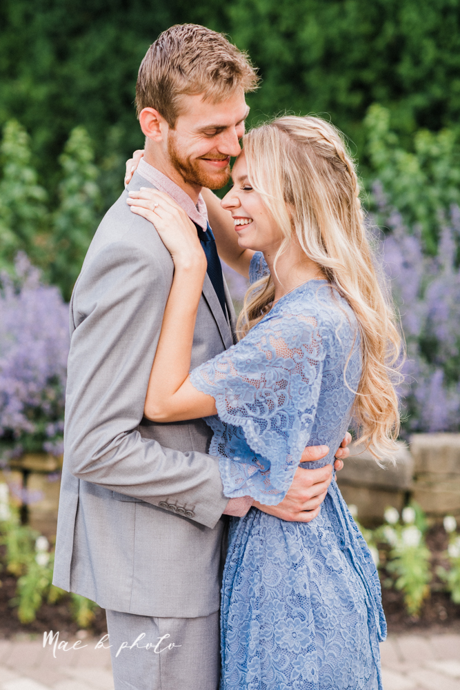 jessica and donny's woodsy adventurous summer engagement session at fellows riverside gardens (the rose gardens) and mill creek park at lantermin's mill in youngstown ohio photographed by youngstown wedding photographer mae b photo -12.jpg