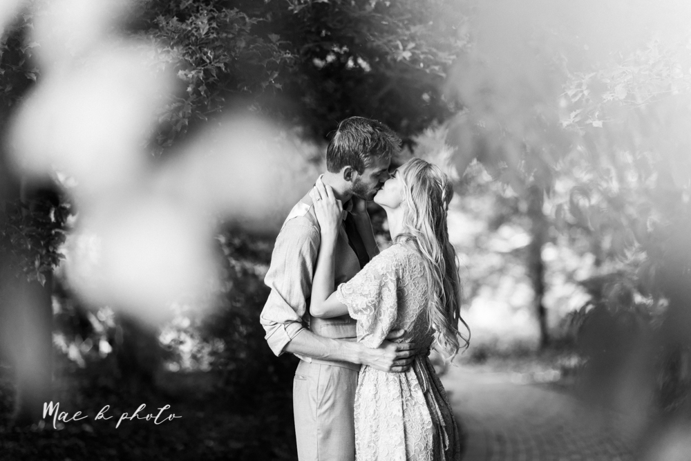 jessica and donny's woodsy adventurous summer engagement session at fellows riverside gardens (the rose gardens) and mill creek park at lantermin's mill in youngstown ohio photographed by youngstown wedding photographer mae b photo -28.jpg