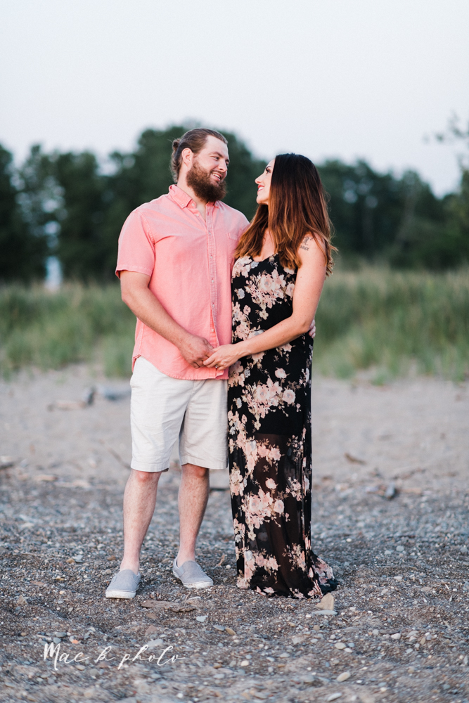 chelsea and jared's summer beach engagement session family session at headlands beach state park in mentor ohio photographed by youngstown wedding photographer mae b photo-40.jpg