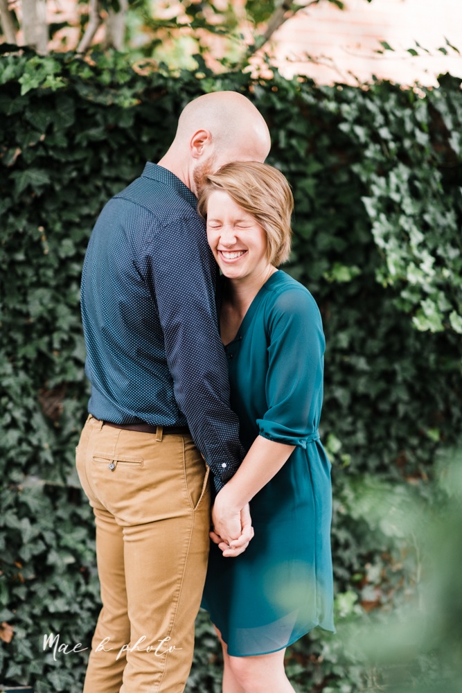 taylor and jame's summer engagement session in german village the loft bookstore and schiller park in columbus ohio photographed by youngstown wedding photographer mae b photo-4.jpg