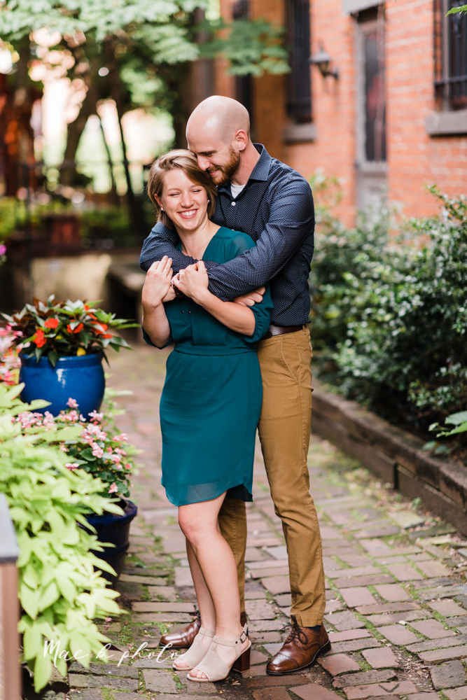 taylor and jame's summer engagement session in german village the loft bookstore and schiller park in columbus ohio photographed by youngstown wedding photographer mae b photo-10.jpg