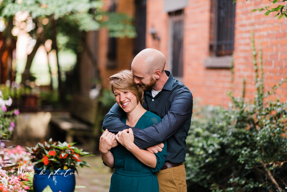 taylor and jame's summer engagement session in german village the loft bookstore and schiller park in columbus ohio photographed by youngstown wedding photographer mae b photo-9.jpg
