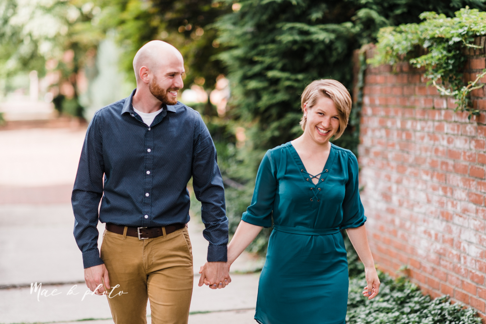 taylor and jame's summer engagement session in german village the loft bookstore and schiller park in columbus ohio photographed by youngstown wedding photographer mae b photo-2.jpg