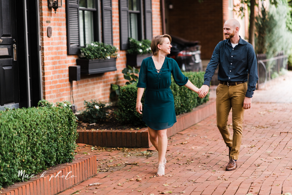 taylor and jame's summer engagement session in german village the loft bookstore and schiller park in columbus ohio photographed by youngstown wedding photographer mae b photo-23.jpg