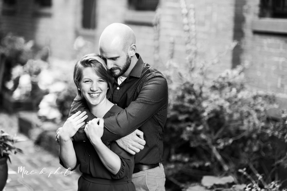 taylor and jame's summer engagement session in german village the loft bookstore and schiller park in columbus ohio photographed by youngstown wedding photographer mae b photo-14.jpg