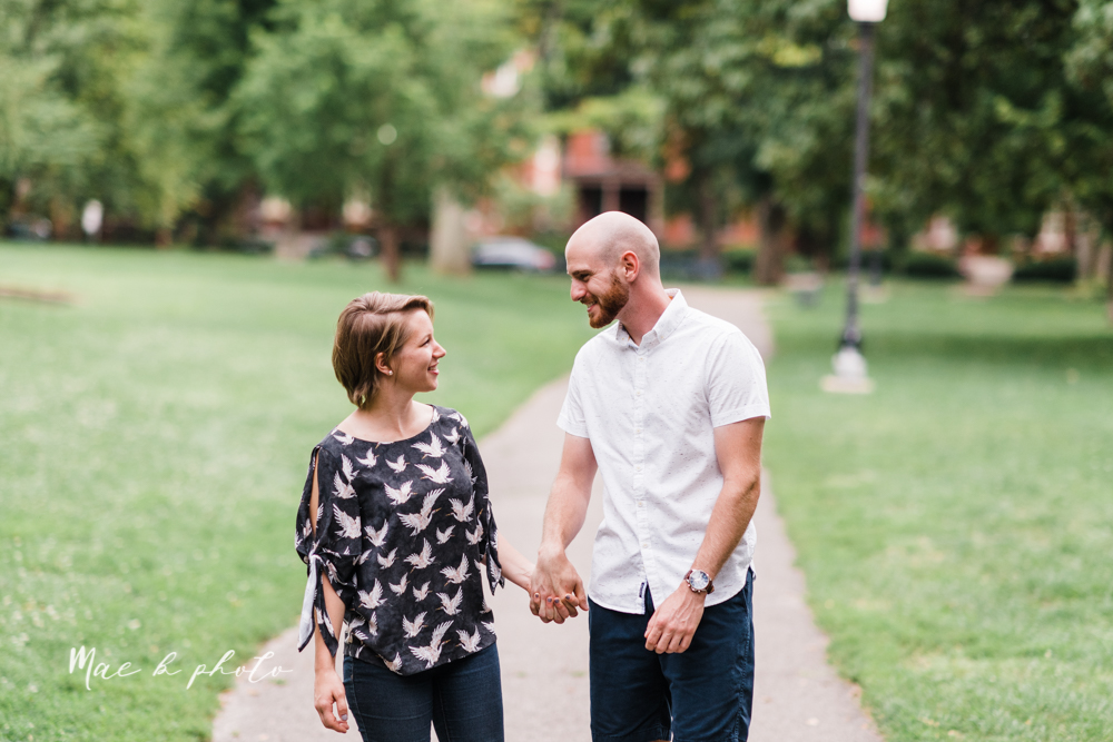 taylor and jame's summer engagement session in german village the loft bookstore and schiller park in columbus ohio photographed by youngstown wedding photographer mae b photo-38.jpg