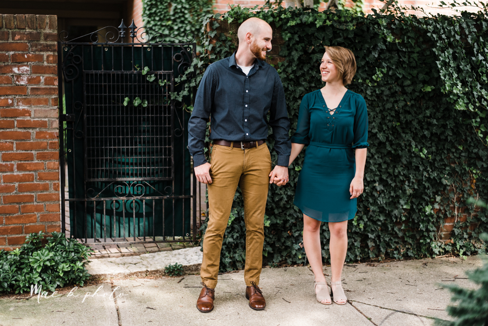 taylor and jame's summer engagement session in german village the loft bookstore and schiller park in columbus ohio photographed by youngstown wedding photographer mae b photo-3.jpg