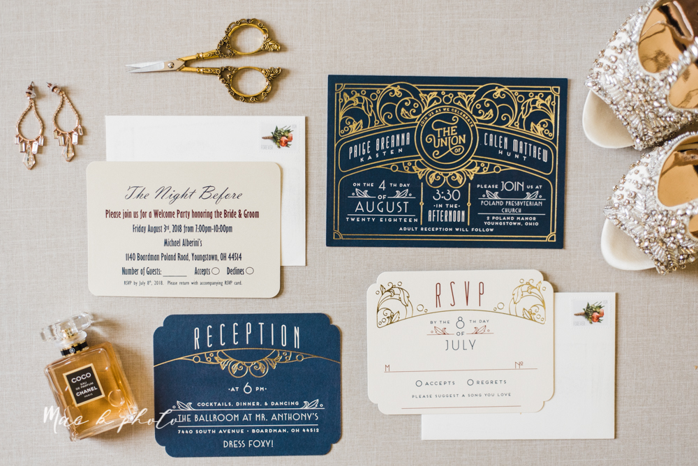 paige and cale's 1920s gatsby glam summer wedding at poland presbyterian church in poland ohio and mr anthony's banquet center in boardman ohio photographed by youngstown wedding photographer mae b photo-1.jpg