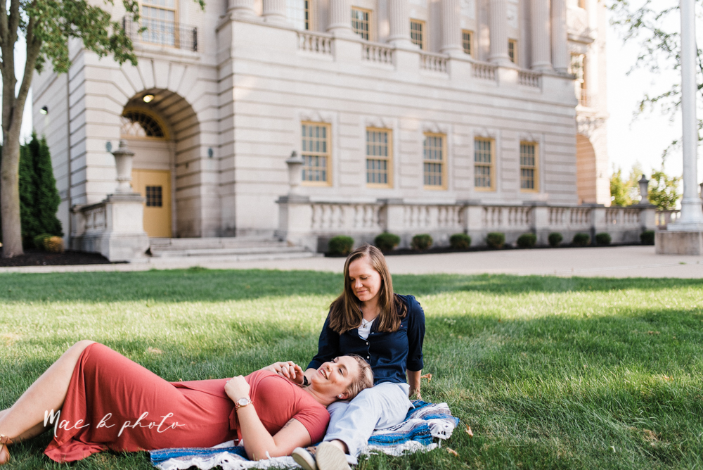megan and angie's hometown summer engagement session in downtown warren ohio photographed by youngstown wedding photographer mae b photo-1.jpg