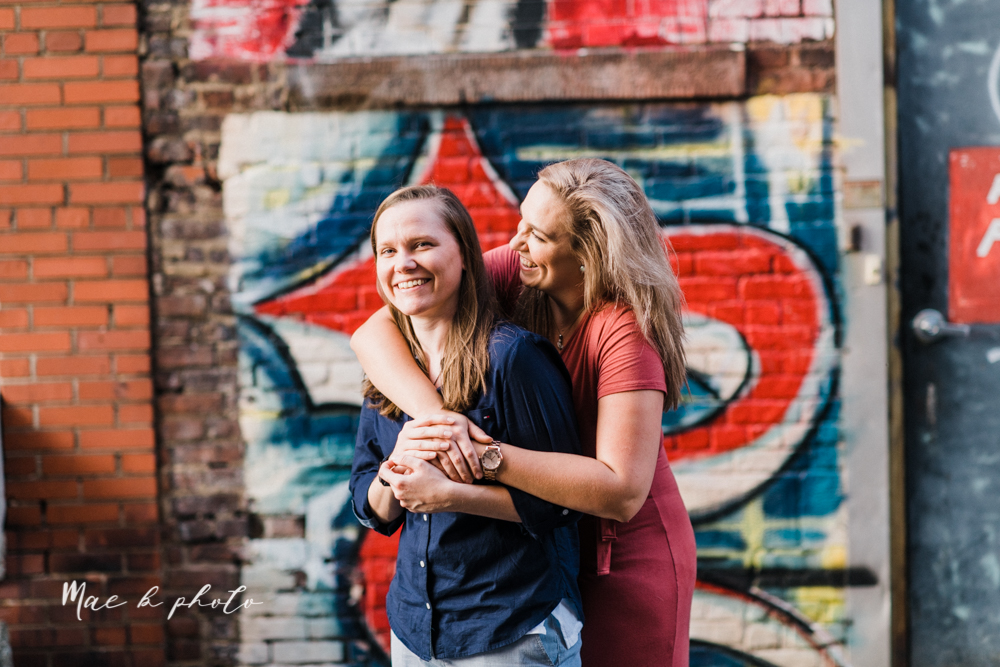 megan and angie's hometown summer engagement session in downtown warren ohio photographed by youngstown wedding photographer mae b photo-27.jpg