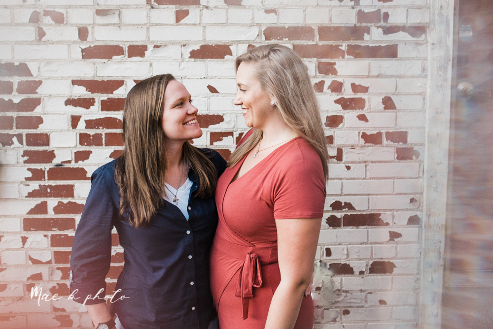megan and angie's hometown summer engagement session in downtown warren ohio photographed by youngstown wedding photographer mae b photo-20.jpg