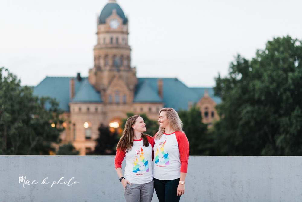 megan and angie's hometown summer engagement session in downtown warren ohio photographed by youngstown wedding photographer mae b photo-39.jpg