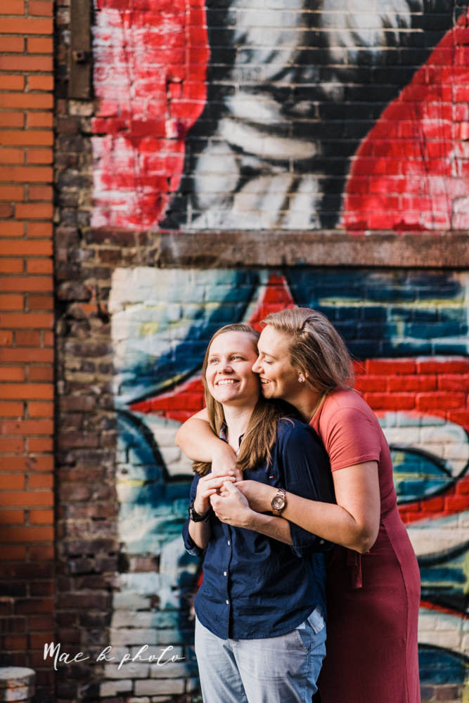 megan and angie's hometown summer engagement session in downtown warren ohio photographed by youngstown wedding photographer mae b photo-29.jpg