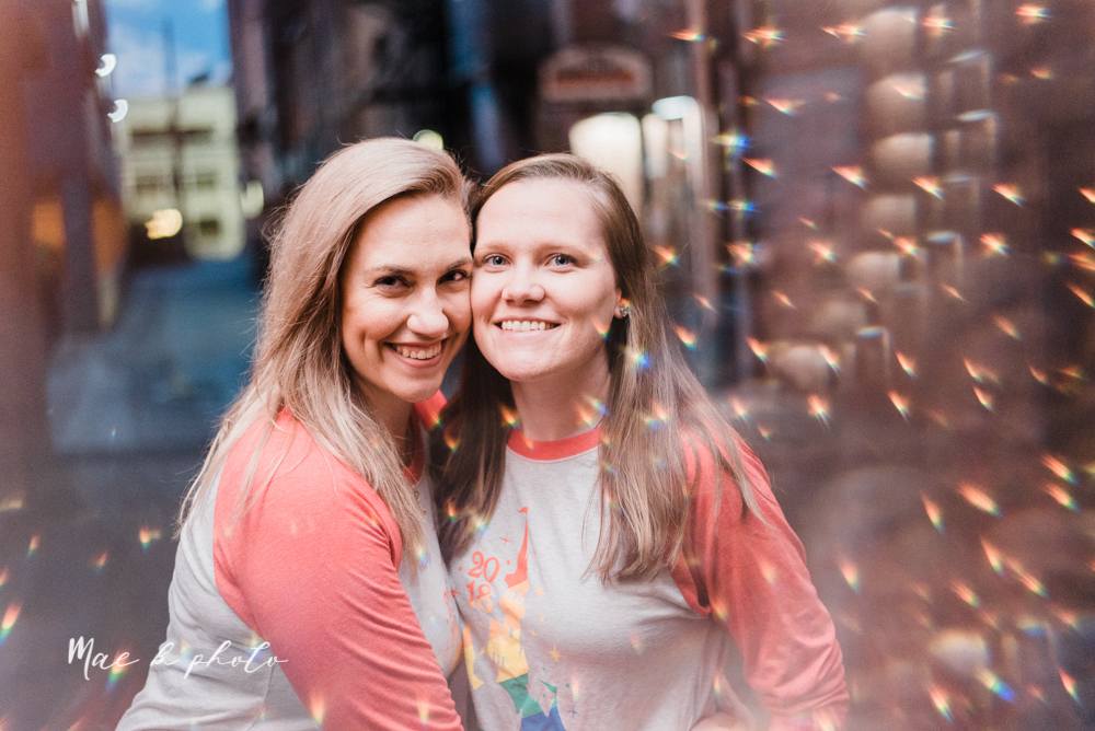 megan and angie's hometown summer engagement session in downtown warren ohio photographed by youngstown wedding photographer mae b photo-45.jpg