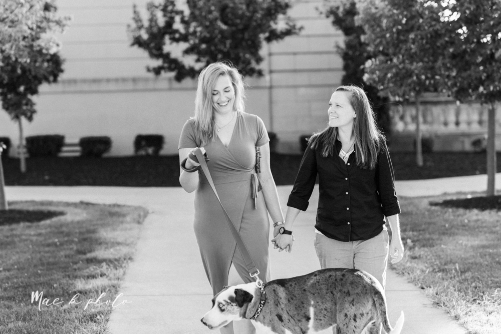 megan and angie's hometown summer engagement session in downtown warren ohio photographed by youngstown wedding photographer mae b photo-16.jpg