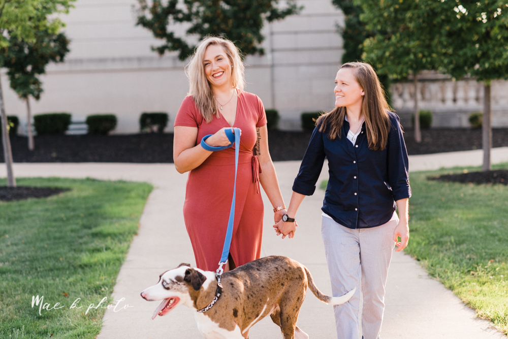 megan and angie's hometown summer engagement session in downtown warren ohio photographed by youngstown wedding photographer mae b photo-17.jpg
