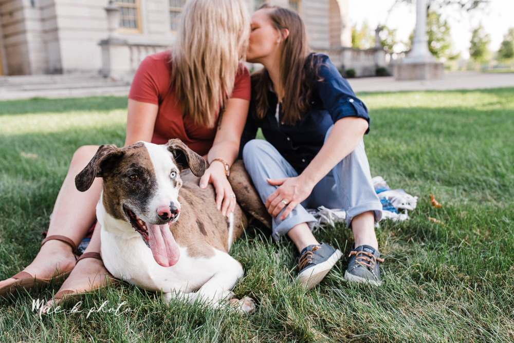 megan and angie's hometown summer engagement session in downtown warren ohio photographed by youngstown wedding photographer mae b photo-7.jpg
