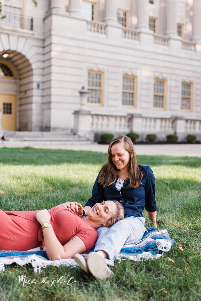 megan and angie's hometown summer engagement session in downtown warren ohio photographed by youngstown wedding photographer mae b photo-3.jpg