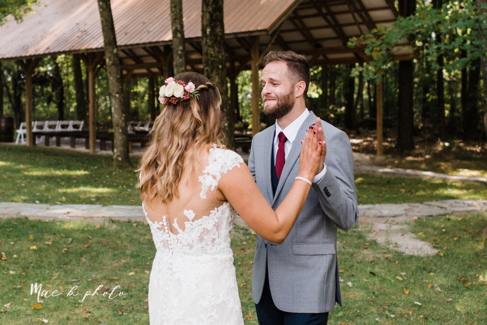 lauren and steve's romantic elegant sophisticated middle of the woods summer barn wedding at the grand barn event center in the mohicans in glenmont ohio photographed by youngstown wedding photographer mae b photo-31.jpg