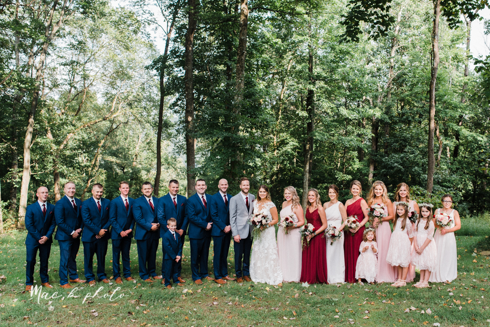 lauren and steve's romantic elegant sophisticated middle of the woods summer barn wedding at the grand barn event center in the mohicans in glenmont ohio photographed by youngstown wedding photographer mae b photo-50.jpg