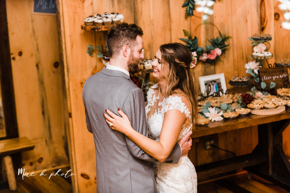 lauren and steve's romantic elegant sophisticated middle of the woods summer barn wedding at the grand barn event center in the mohicans in glenmont ohio photographed by youngstown wedding photographer mae b photo-160.jpg