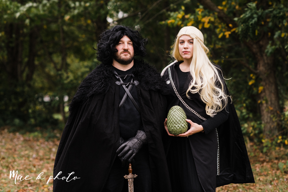 1146a5f8a5e17 mae and lou's game of thrones fall october halloween pregnancy announcement  with dog halloween dragon costumes